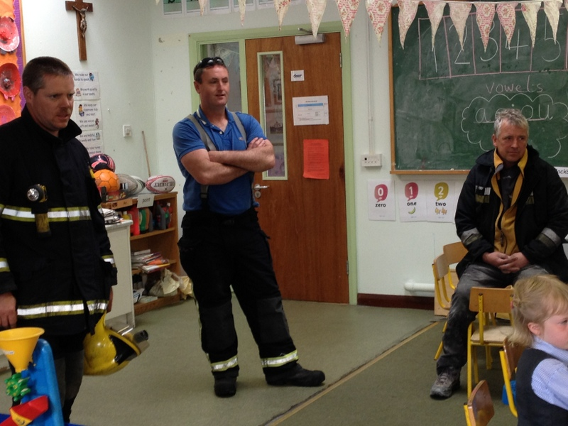 The firemen gave us some very useful advice!
