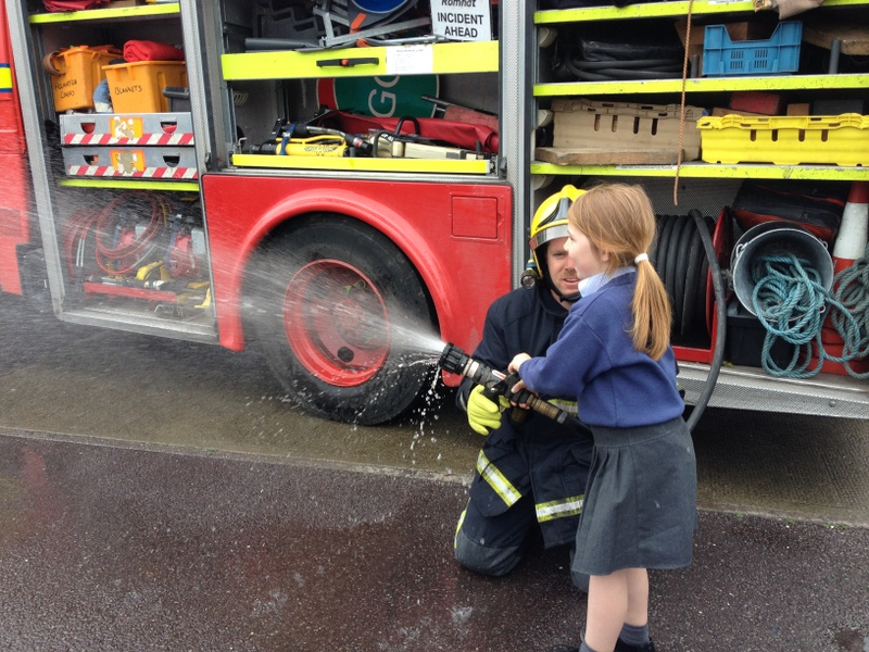 We got to try out the hoses!