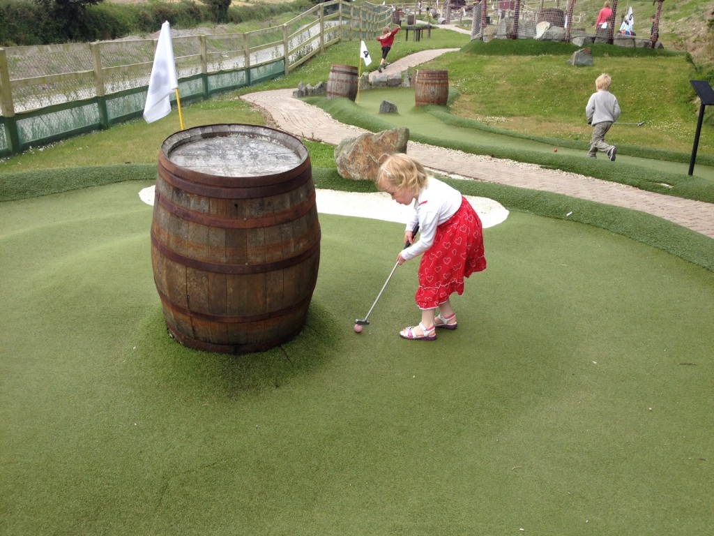 The crazy golf sure took a lot of concentration!
