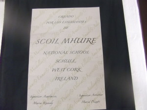 Well done Scoil Mhuire , Ms .Kennedy & Maria Pizzuti