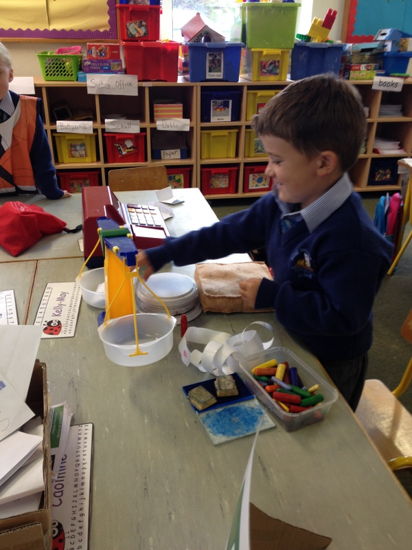 We used weighing scales to weigh letters.