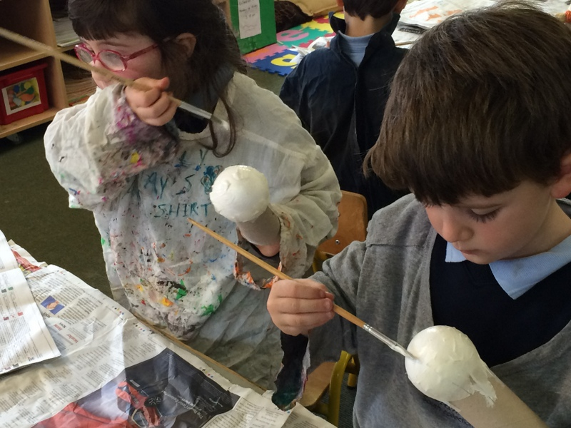 Painting our snowmen!