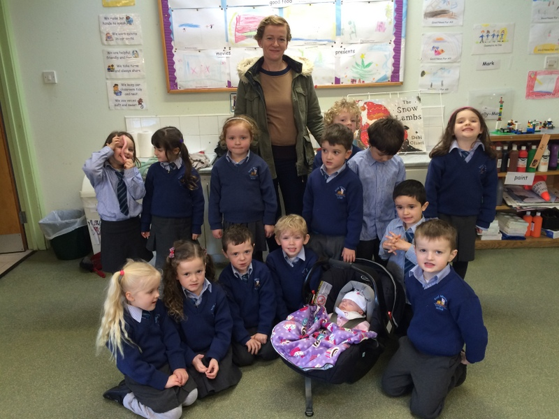 Kate-Anne with the Junior Infants.